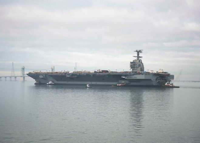 PEO Carriers: Advanced Arresting Gear Delays Won't Stop Ford From Delivering On Time