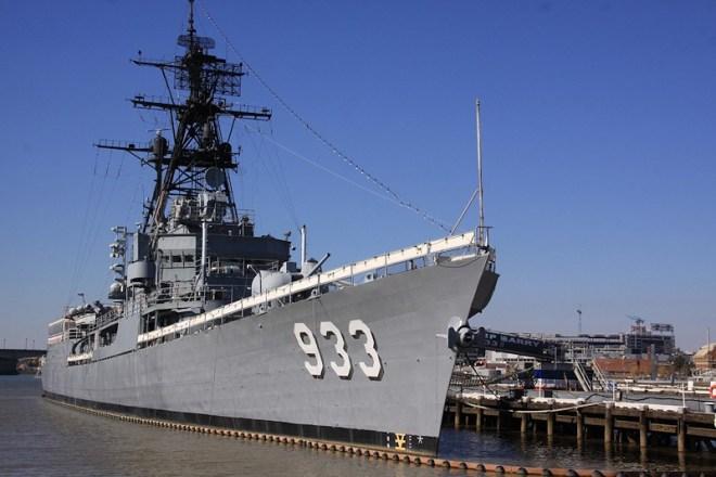 Washington Navy Yard Says Goodbye to Display Ship Barry