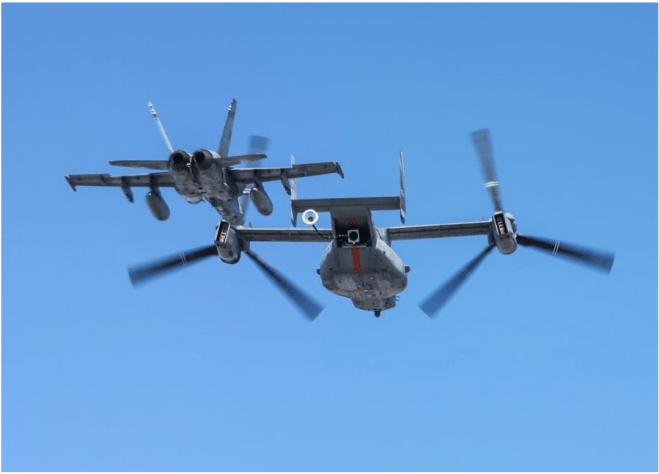 Navy Not Following Marines' Lead in Developing V-22 Osprey Tanker
