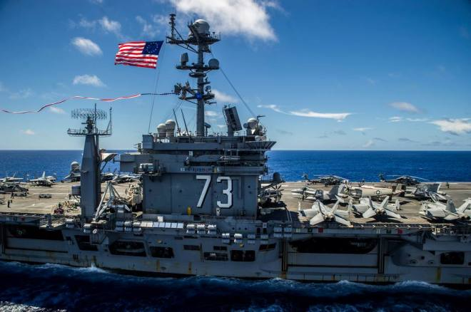 USS George Washington to Arrive in California Today to Begin 3-Carrier Crew Swap