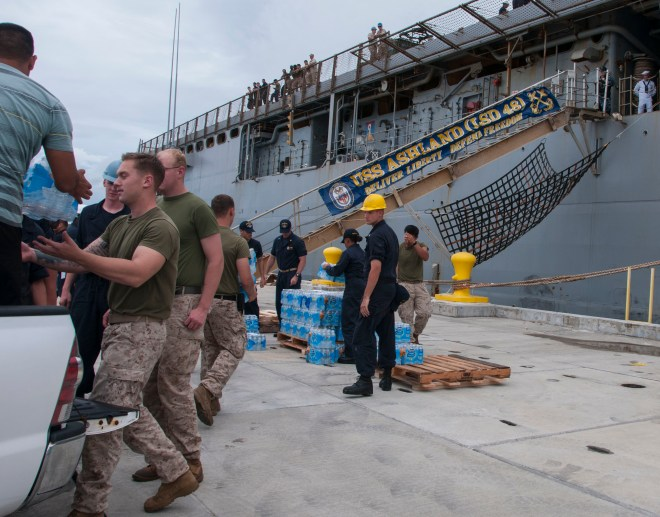 U.S. Scrambles Amphib USS Ashland, 31st MEU Marines to Saipan for FEMA Typhoon Relief Mission