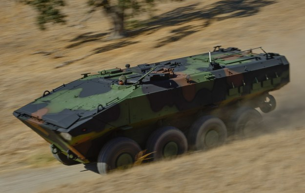 BAE Systems and Iveco Defense partnered to create this entrant for the Marines ACV 1.1 competition. Photo courtesy BAE Systems.