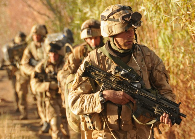 British Royal Marine Commandos take part in Operation Sond Chara, the clearance of Nad-e Ali District of Helmand Province in southern Afghanistan in 2009. DoD Photo