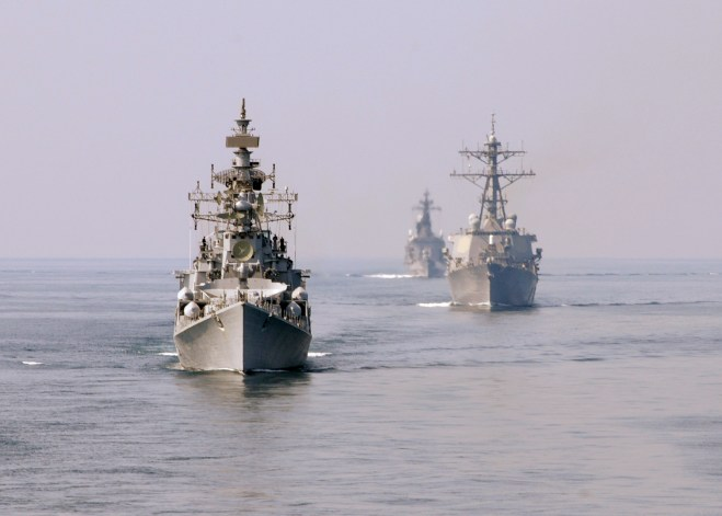 U.S., India and Japan Participating in Annual Malabar Exercise in Bay of Bengal