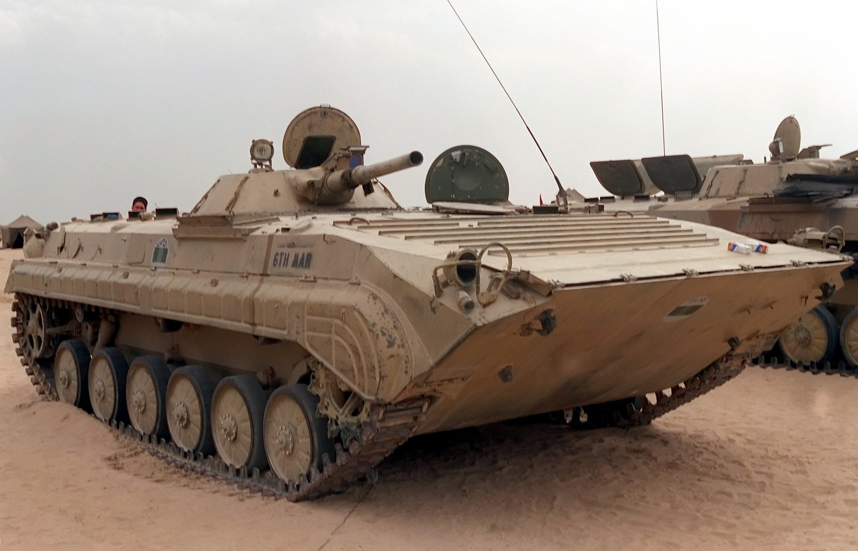 Russian BMP-1 amphibious infantry fighting vehicle