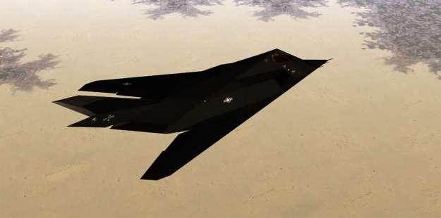 Lockheed Martin F-117 Nighthawk over Iraq. US Air Force Photo