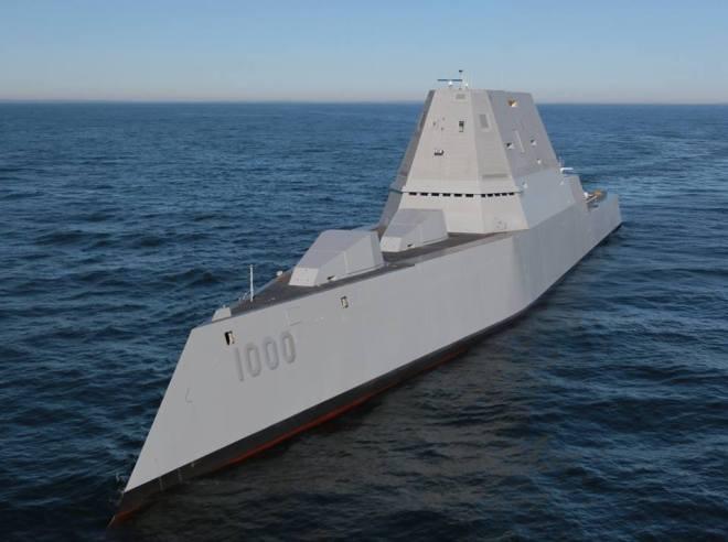 VIDEO: Zumwalt Destroyer Underway