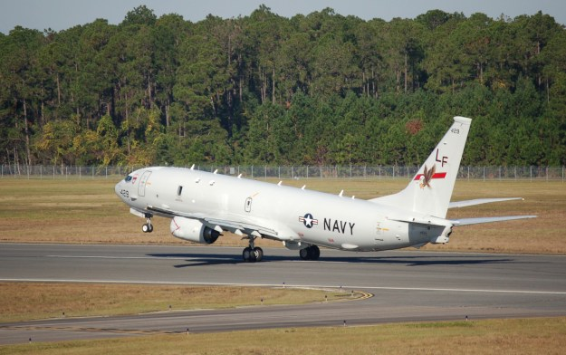 A U.S. Navy P-8A Poseidon takes off from NAS Jacksonville, Fla. US Navy Photo