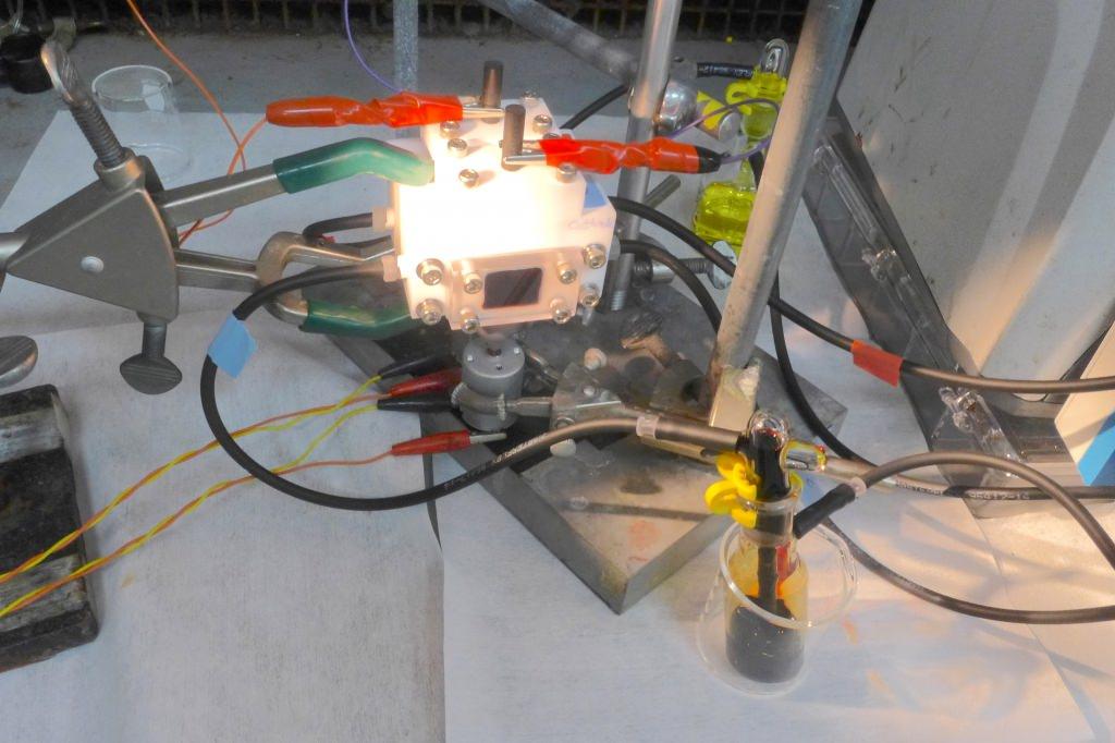 Photo: Prototype solar-charged device