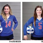 From left, Blanca Izquierdo, Catja Weijzen, Autumn Reese and Adriana Darthuy were named to the Missouri Community College Athletic Association's All-Conference Volleyball Team.