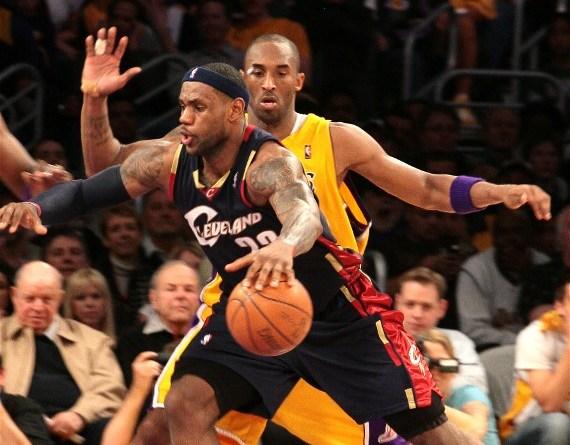 LeBron James and Kobe Bryant will go toe-to-toe on Christmas Day./Burt Harris/HGStar 1 News