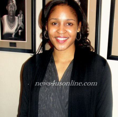 Fomer UConn star Maya Moore is taking her game to the WNBA./Photo Credit: Dennis J. Freeman/news4usonline.com