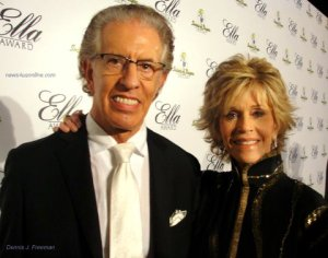 Music producer Richard Perry and actress Jane Fonda show their love for Smokey Robinson by attending the 2011 Ella Award./Photo/Dennis J. Freeman