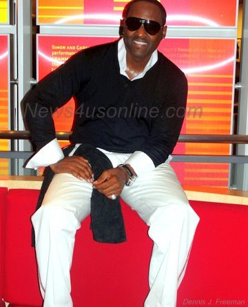 "Singer Johnny Gill, backstage at the Grammy Museum in Los Angeles, is sitting pretty with his new CD,""Still Winning.""/Photo Credit: Dennis J. Freeman"