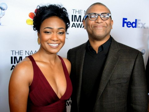 Actress Tatyana Ali (Love That Girl) and Reginald Hudlin at the 2013 NAACP Image Awards Nominees Luncheon. Photo Credit: Dennis J. Freeman