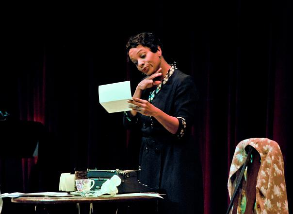 """Actress Vanessa Bell Calloway Shines in the stage play, """"Letters From Zora...In Her Own Words."""" Photo Credit: Chris Roman"""