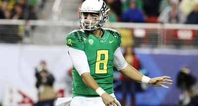 Heisman Trophy winner Marcus Mariota and his Oregon Ducks have been in the spotlight all season. Photo Credit: Jevone Moore/News4usonline.com