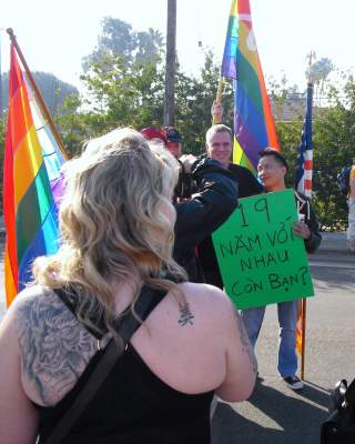 Gay activists at the Tet Parade