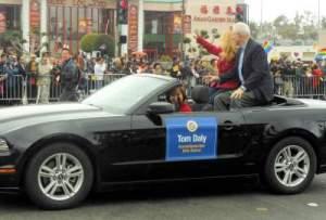 Tom Daly at the Tet Parade 2