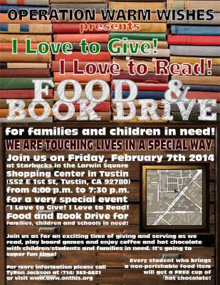 Food and Book Drive