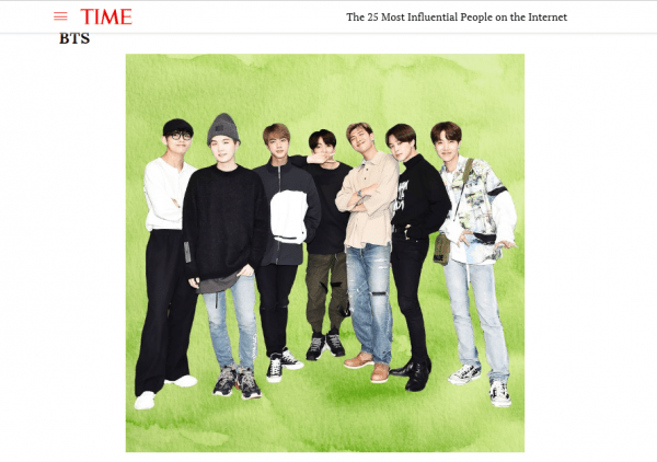 BTS make Time's list of 25 most influential people on internet