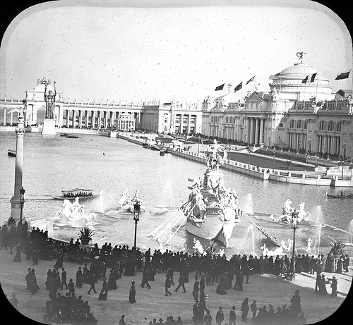 Court of Honor from Administration Building Chicago World's Columbian Exposition in 1893