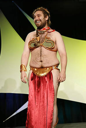 Halloween costume slave leia