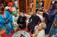 Buhari meets family members