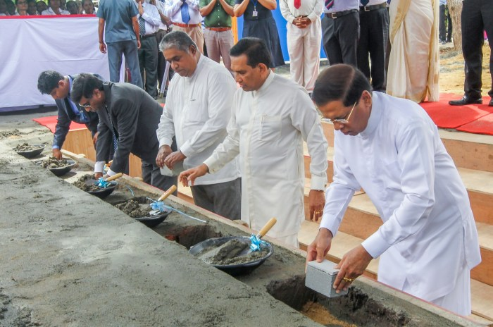 Sri Lankan President lays foundation for South Asia's largest Kidney Hospital