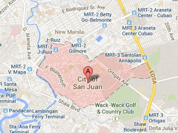 map san juan manila
