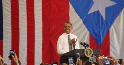 President Barack Obama during his recent visit to Puerto Rico.  (Credit: Janelyn Vega, Radio Universidad de Puerto Rico)