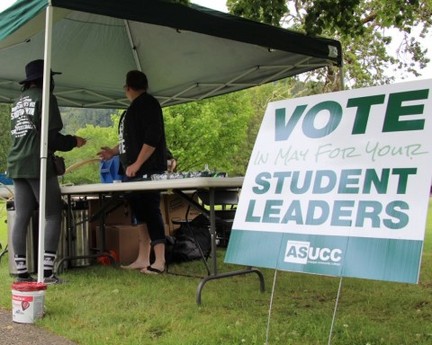 UCC Student votes for constitution amendments and elections at the voting booth near the library  Provided by The Mainstream