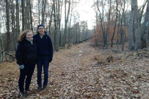 Tessa Hill '17 and Sophie Breitbart '16 analyzed five properties in Middletown including the Wesleyan Woods Preserve (pictured).