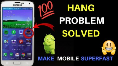 never solve hang problem of mobile