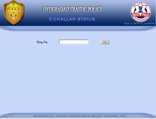 traffic echallan check status