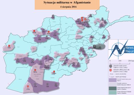 Sytuacja militarna w Afganistanie 4 VIII 2016