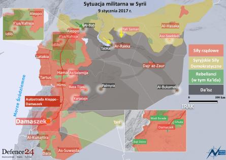 Sytuacja militarna w Syrii - 9 I 2017 r. - Defence24 l