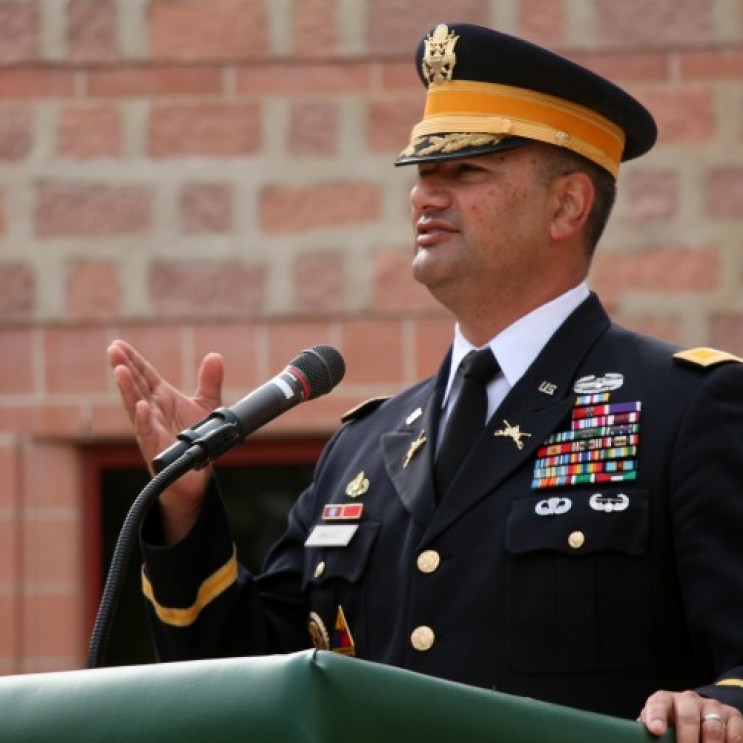 Col. Ricardo Morales served in the Army for 27 years starting as an Armor officer in 1989 and becoming a Colonel later in his career. His speech touched on the importance of ROTC and JROTC's affect on young students to become better citizens.