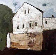 Das Gemälde von Alexander Dettmar zeigt das Geburtshaus Berthold Beitz in Zemmin.