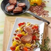 Bohnenpfanne mit Schweinefilet (cholesterinarm)