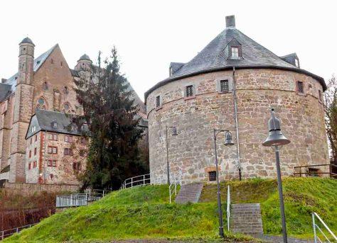 Der Hexenturm des Marbuger Schlosses Foto: hr/Stadt Marburg/Rainer Kieselbach