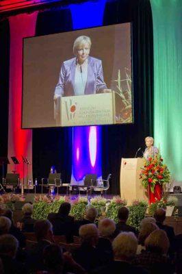 NRW-Ministerpräsidentin Hannelore Kraft bei ihrer Festrede zum 60. Geburtstag der Landschaftsverbände. Foto: LWL