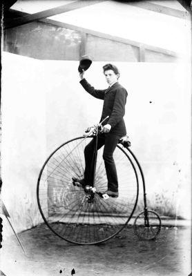 Hochrad um 1885. Foto: LWL