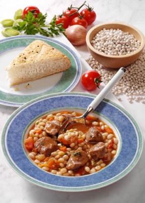 Bohnen-Tomaten-Topf mit Lamm (cholesterinarm) Foto: Wirths PR