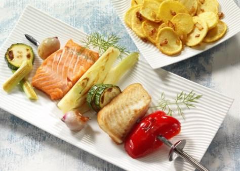 Fischspieße (cholesterinarm) Foto: Wirths PR