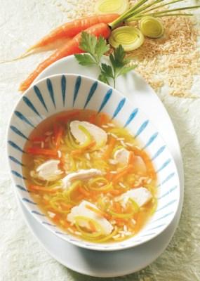Hühnersuppe mit Reis Foto: Wirths PR