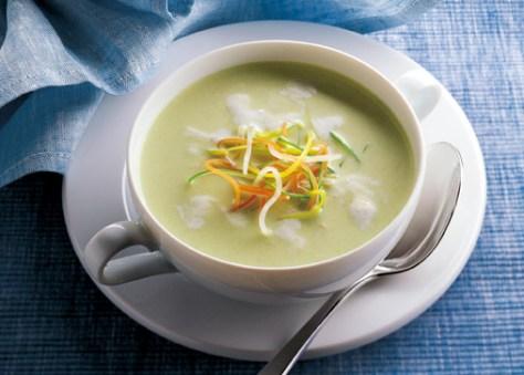 Kartoffel-Suppe mit Lauch und Soja (cholesterinarm) Foto: Hensel/Wirths PR