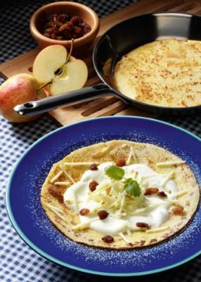 Pfannkuchen mit Apfel-Quark-Füllung Foto: Wirths PR