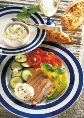 Diät-Rezept: Vitaminteller mit Putenbrust Foto: Wirths PR