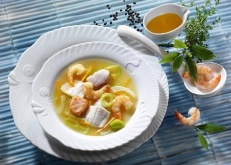 Fischsuppe (Rezept für Diabetiker) Foto: Wirths PR